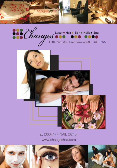 Changes Hair, Salon and Spa Menu